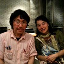 佐藤文香さんと、ちょいと飲んで出来上がってる私(笑)