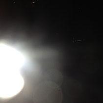 セミナー前夜に謎の発光体が、写真に写っていました。