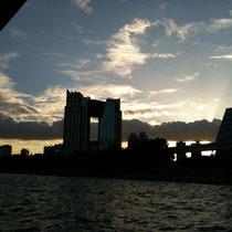 東京湾岸の夕景