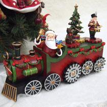 """オルゴール ¥14,700 → Sale ¥11,760 /サイズ:横29cm×縦8cm×高さ21cm   ♥""""We Wish You A Merry Christmas""""の音楽に合わせて汽車の車輪とクマ、ツリーなどがクルクルと回ります。"""