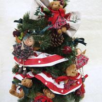 クマ&女の子オーナメント付きツリー ¥11,550 → Sale ¥9,240 /サイズ:直径32cm×高さ55cm