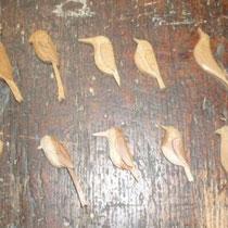 ナツメ材のブローチロウ仕上げ前