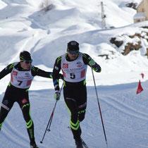 Stage Val Formazza actuellement, Team sprint avec les juniors.