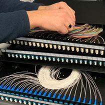 Préconfiguration tiroir optique dans nos ateliers - pigtail - traversée ....