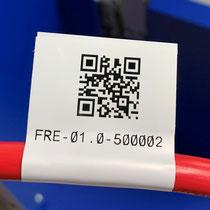 Etiquette porte drapeau avec QR Code Recto / Verso
