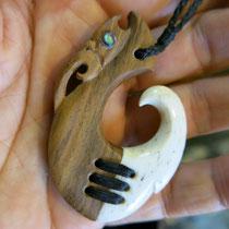 Sold / Lignum Vitae + Whale Bone
