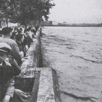 Valencia flood near the river in 1957
