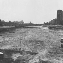 Turia river bed garden construction (1985). Copyright: EFE