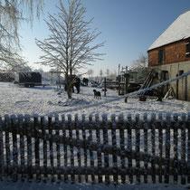 Schnee bei schönstem Sonnenschein