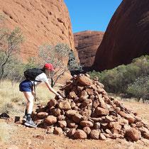 Cairn de KERNH de l'autre bout du mpnde. Dans le désert rouge d'Australie. Merci à Suzie