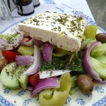 Griechischer Bauernsalat bei Eleni