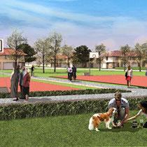 Рекреационная зона со спортивными площадками