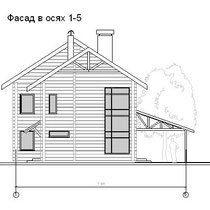 Фасад в осях 1-5