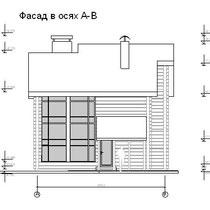 Фасад в осях А-В