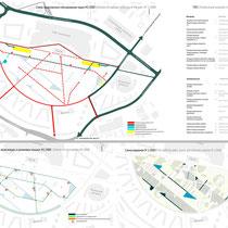 Схемы движения транспорта, велосипедных дорожек и искусственных водоемов