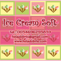 "Logo & card ""Ice Cream Soft Brio"""