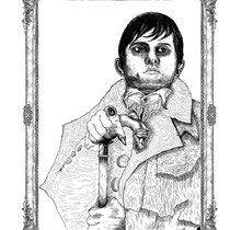 "Barnabas Collins. 14x20"" $300"