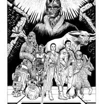 "Star Wars The Last Jedi Coloring Book Illustration for Zimbio. 16x20"""