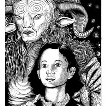 """Pan's Labyrinth. 14x17"""" Art book entry. Original is available."""