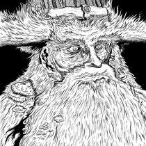 "Inktober drawing, 2017. ""Halpanyegor"" 11x15"" $300"