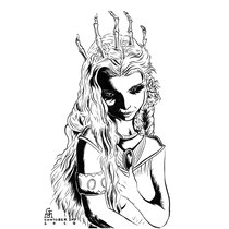 "Inktober drawing, 2016. ""Linris"" 9x12"" $275"