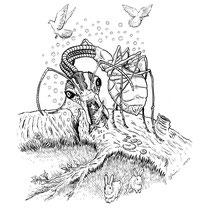 "Inktober drawing, 2017. ""Ant-bot"" 9x12"" $200"