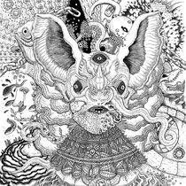"""Album Back Cover for 'Bunnies; Transportation To Mind Transformation' on Vinyl. """"Unchain Brain"""" 14x17"""""""
