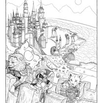 """The Tales of Reverie Volume II Original Comic Page 01. Pen and Ink on Bristol. 18x24"""""""