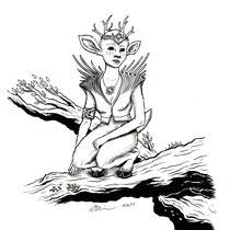 "Inktober drawing, 2017. ""Lahami"" 9x12"" $200"