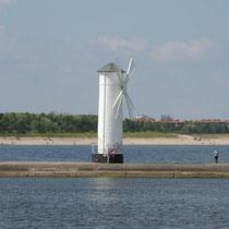 Die Hafeneinfahrt vonSwinemünde