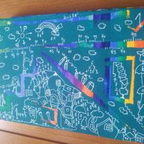 「黒板キャンバス」 2013.5(227mm×157mm)【SOLD OUT】