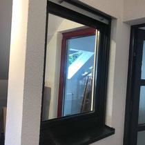 Beispielfenster (die graue Metalleiste an der Rollade wird bei uns ebenfalls in RAL 7016)