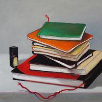 Verborgenes Bücher | 2020 | Öl auf Leinwand | 40 x 50 cm