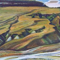 В. Аксёнов. ОВРАГИ. К., масляная пастель. 2007. 48х61