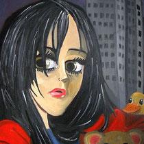 sleepless, 2009, 100 x 70 cm, Öl auf Leinwand