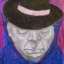 o.T, 2009/2015, 15 x 10,5 cm, Bleistift, Farbstift, Papier-Ausschnitt, Kleber auf Papier
