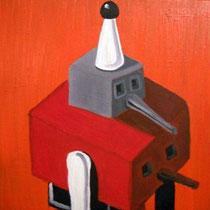 Harlekin, 2010, 30 x 30 cm, Öl auf Leinwand