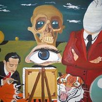 Die Zerstörung des Traums, 2005, 60 x 80 cm, Öl auf Leinwand