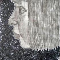 o.T, 2009/2015, 18 x 13 cm, Bleistift, Edding, Papier-Ausschnitt, Kleber auf Papier