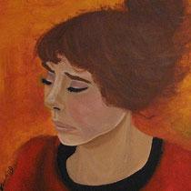 Lady in Red, 2009, 50 x 40 cm, Öl auf Leinwand