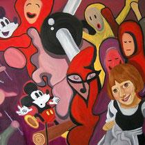 Der Aufstand, 2010, 70 x 100 cm, Öl auf Leinwand