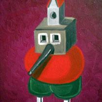Kirchling, 2010, 40 x 30 cm, Öl auf Leinwand