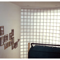 Glasbausteine im Treppenhaus, Ansicht: innen