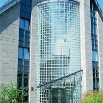 Treppenhaus-Verglasung, Bürohaus Aachen
