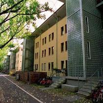 Treppenhaus Verglasung, Wohnanlage Bad Godesberg; Dekor: Fidenza Klarsicht