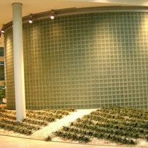 Glasbaustein Trennwand innen, Berlin