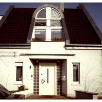 Glasbausteine im Eingangsbereich, Bonn; Dekor: Klarsicht, satiniert