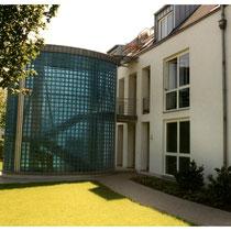 Außenwand, Köln; Dekor: Fidenza türkis, Klarsicht