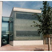 Glasbaustein-Außenwand, Köln; Dekor: BSH 20 Vollsicht