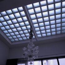 Begehbares Glasbaustein-Oberlicht; Ansicht: unten